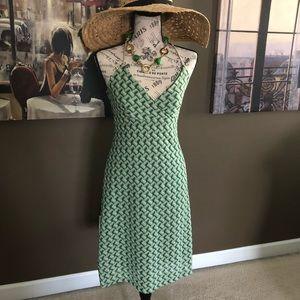 LOFT Green Summer Dress